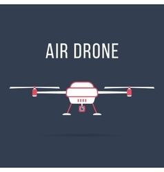 white and pink air drone vector image vector image