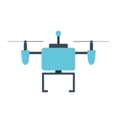 drone technology isolated icon design vector image vector image