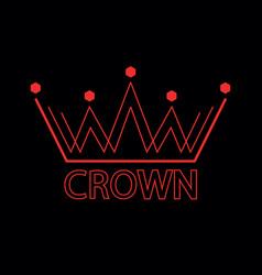 elegant crown premium symbol vector image