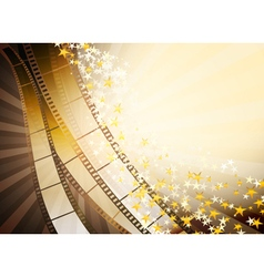 film backgroundstars vector image vector image