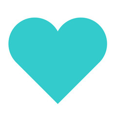 flat heart icon love sign favorite button vector image vector image