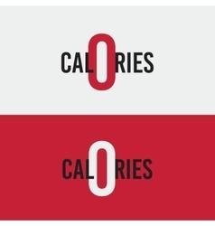 logo icon zero calories Diet health vector image