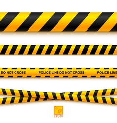 Police line tape and danger on a light background vector image vector image