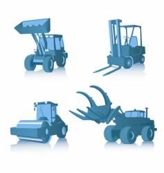 set of industrial machines vector image vector image