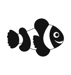 Clownfish flag icon simple style vector image vector image