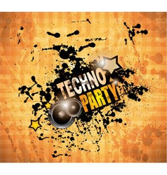 Disco Club flyer with 2 speaker and a lot of vector image vector image