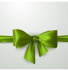 Green Bow And Ribbon vector image vector image