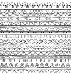 Original tribal doddle ethnic pattern vector image vector image