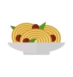 Pasta dish vector image vector image