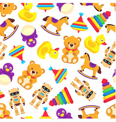 popular baby toys seamless pattern vector image vector image