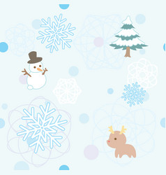 winter pattern 1 vector image vector image