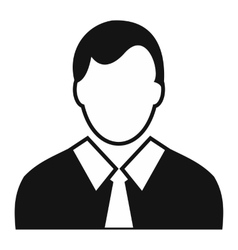 Worker avatar simple icon vector image vector image