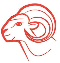 zodiac sign aries logo vector image vector image