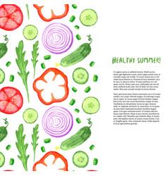 hand paint watercolor vegetables set watercolor vector image