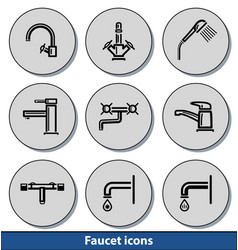 light faucet icons vector image