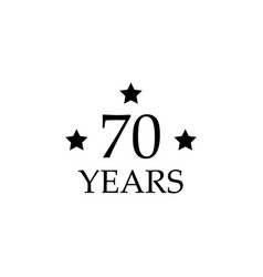 70 anniversary sign element of anniversary sign vector image