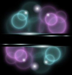 abstract background with bubbles - vector image