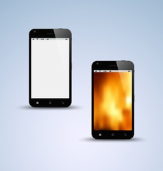 Abstract black smartphone background vector