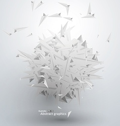 Abstract graphic paper airplane piled vector