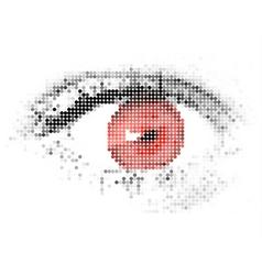 abstract human digital red eye vector image