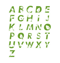 alphabet leaf graphic design template isolated vector image