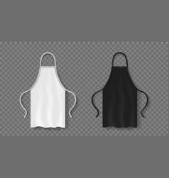 Apron mockup uniform for kitchen vector