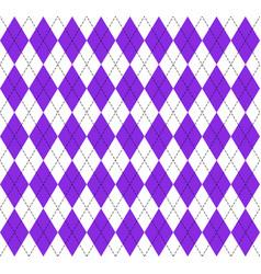 Argyle plaid in proton purple colors vector