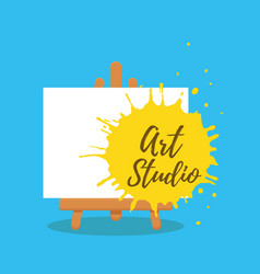 art studio design interior colorful vector image