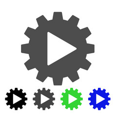 Automation gear flat icon vector