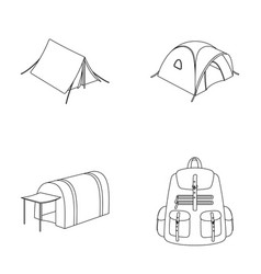 Backpack and other kinds of tentstent set vector