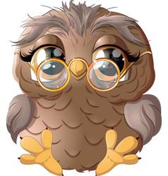 Beautiful owl drawing vector