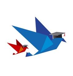 Bird concept for education vector