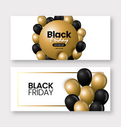 black and golden friday sale background vector image