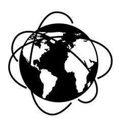 Black and white planet design vector