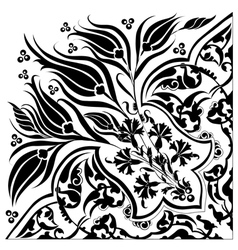 Black oriental ottoman design twenty eight vector