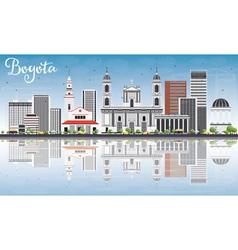 Bogota Skyline with Gray Buildings vector