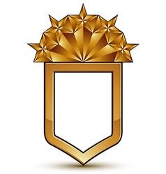 Branded golden geometric symbol stylized golden vector image