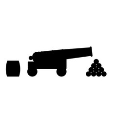 cannon silhouette vector image