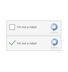 captcha i am on a robot vector image