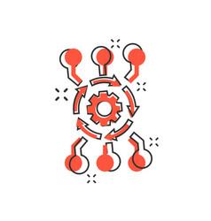 Cartoon algorithm api software icon in comic vector