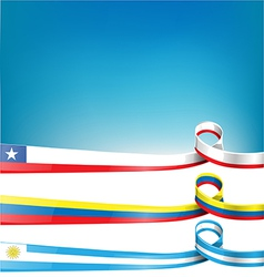 chileanuruguayan and colombian flag vector image