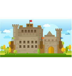 classic old castle flat vector image