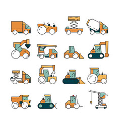 construction transport heavy machinery truck vector image