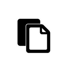 Copy file icon duplicate document symbol black vector