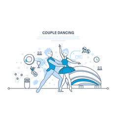 Couple in beautiful clothes sdelicate ballet vector