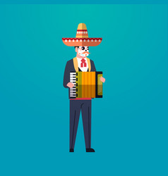 day of dead traditional mexican halloween man vector image