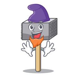 elf character of metallic meat tenderizer hammer vector image