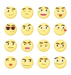 Emoticon set collection emoji 3d emoticons vector