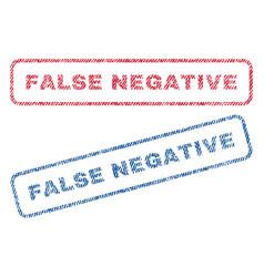 False negative textile stamps vector