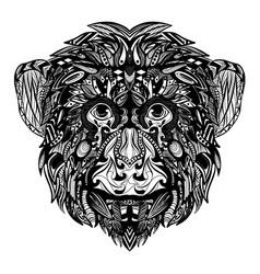 Fauna entangle monkey full ornament vector